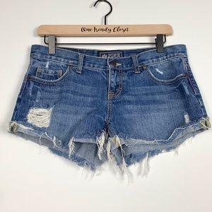 Pink | Victoria's Secret Distressed Jean Shorts